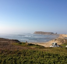 view from Peniche Surf Lodge